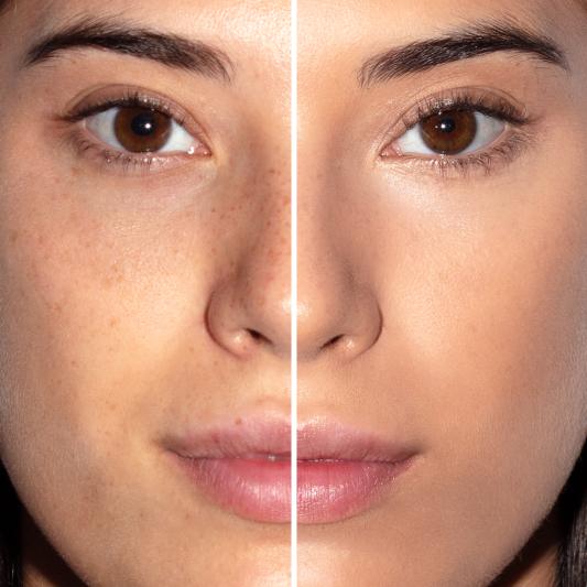 Antes y después base de maquillaje Vital Skin